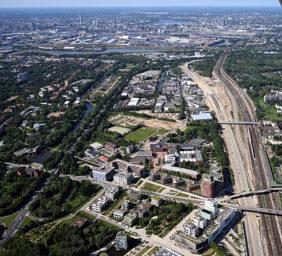 Luftbild Wilhelmsburg Mitte 2019