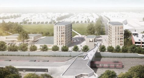 Vogelkamp Neugraben: Visualisation of entrance buildings and area