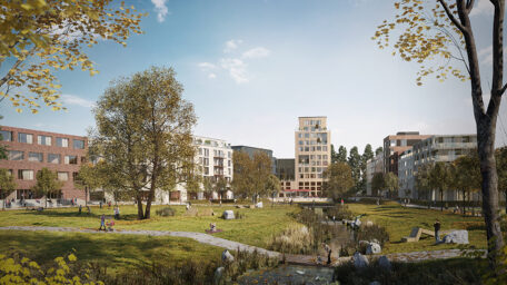 Elbinselquartier (Elbe Island District): Visualisation of open spaces