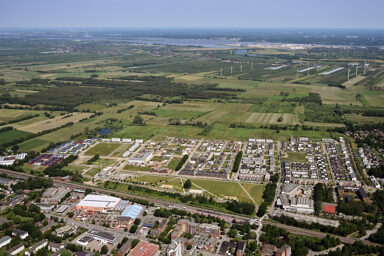 Vogelkamp Neugraben: Aerial view, July 2019