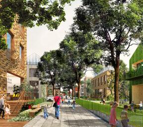 Oberbillwerder: Visualisation, residential street