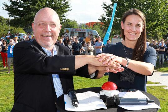 Eröffnung Sport und Spielband in Vogelkamp Neugraben