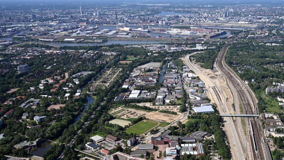 Luftbild Wilhelmsburg Mitte