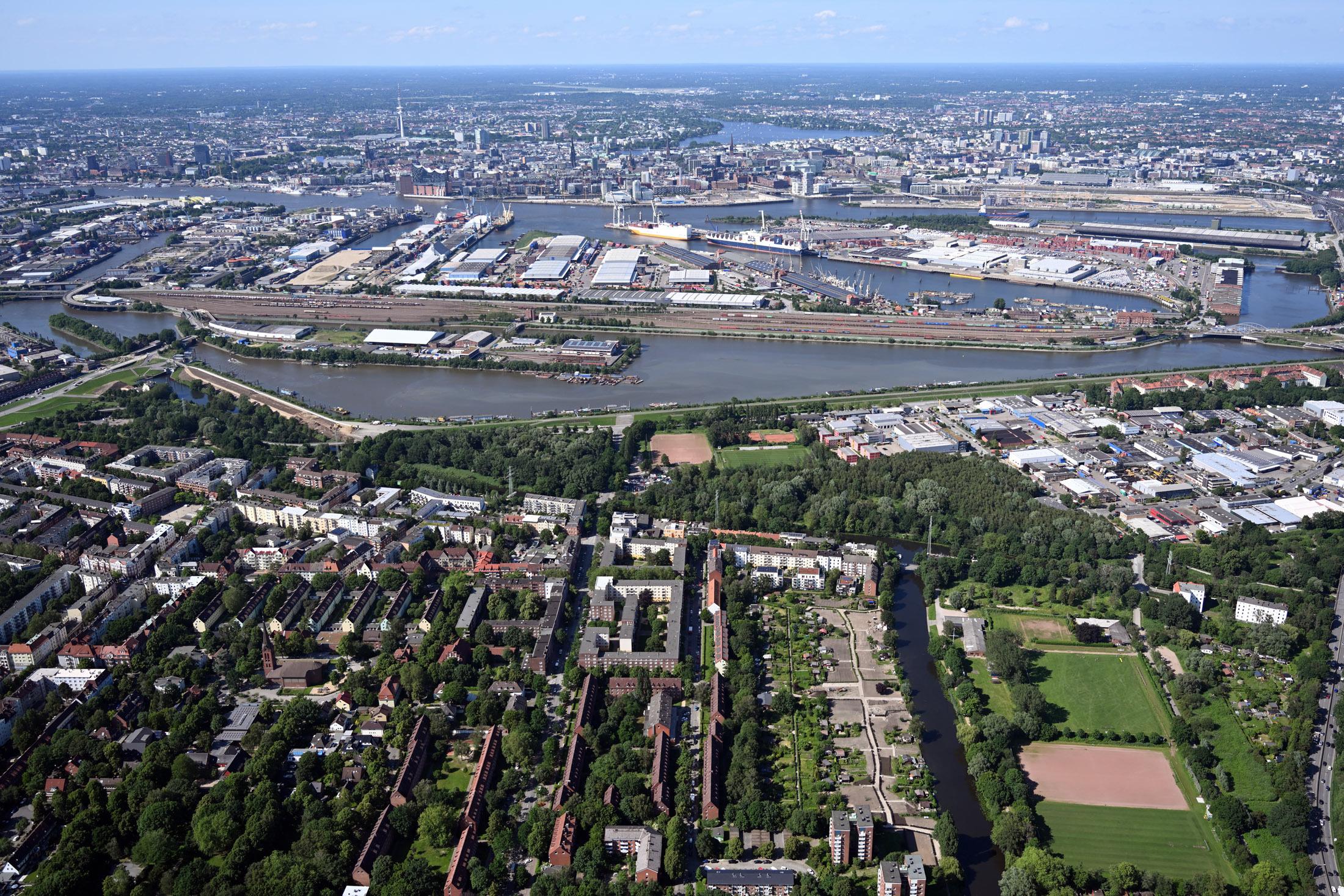 Herobild Spreehafenviertel Luftbild