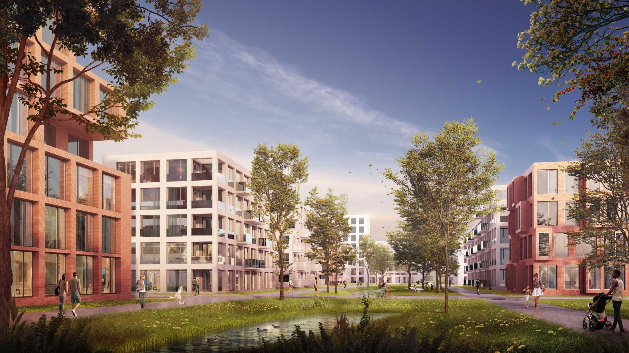 1 Wilhelmsburger Rathausviertel Visualisierung Perspektive