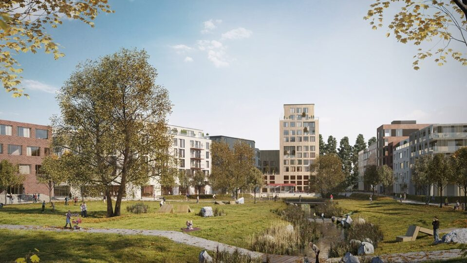 Elbinselquartier Impression Freiraeume Credits: IBA Hamburg/ Frem3